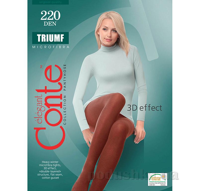 Колготы коричневые плотные для женщин Triumf 220 Den Conte 8С-58СП Mocca