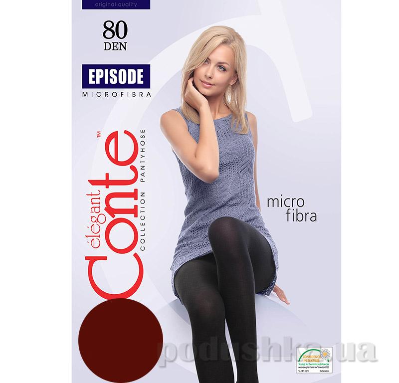 Колготы темно-коричневые плотные Episode 80 Den Conte 8С-40СП Mocca