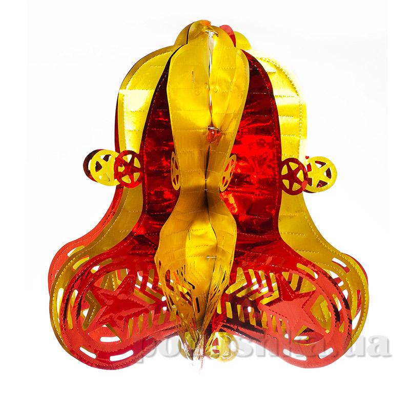 Колокольчик новогодний красно-золотой Новогодько 800965