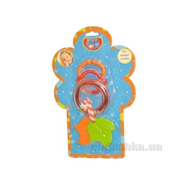 Кольцевая погремушка-подвеска с прорезывателем Biba Toys Листочки 095PP