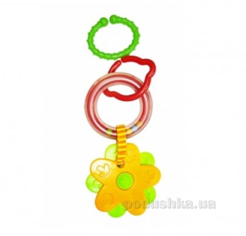 Кольцевая погремушка-подвеска с прорезывателем Biba Toys Цветочки 096PP