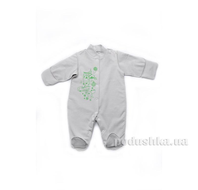 Комбинезон человечек для новорожденного Модный карапуз 302-00013 Серый