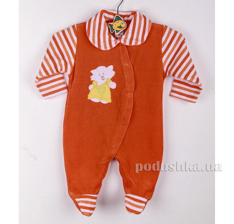 Комбинезон детский Niso Baby 4012 оранжевый