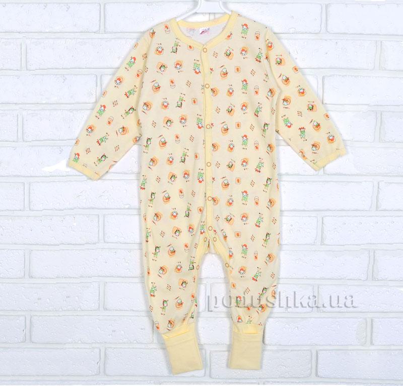 Комбинезон для малыша 15606 Татошка желтый Ферма
