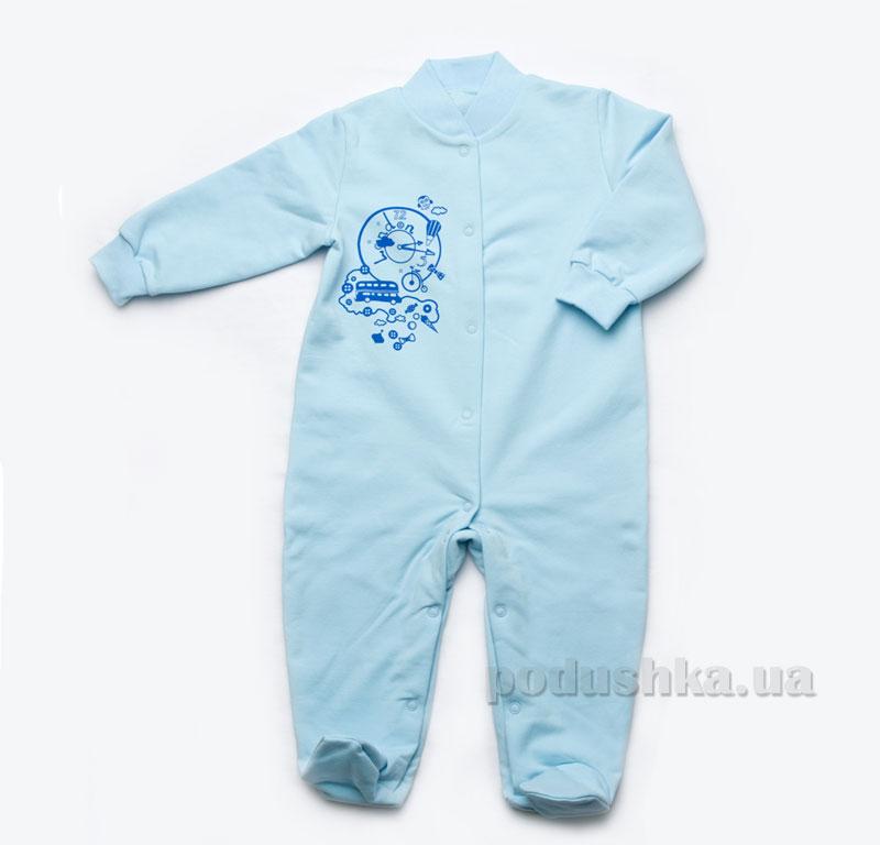 Комбинезон для новорожденных Модный карапуз 302-00010 бирюзовый