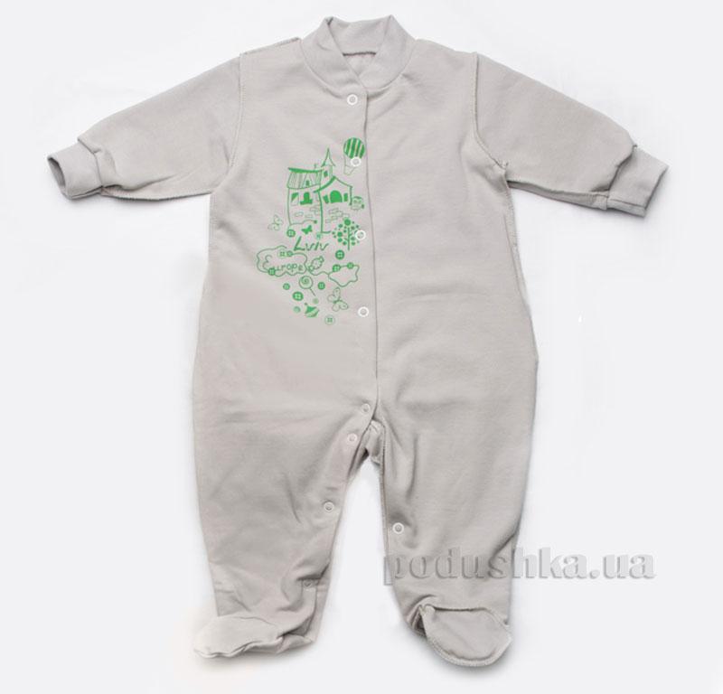 Комбинезон утепленный для новорожденных Модный карапуз 302-00010 серый