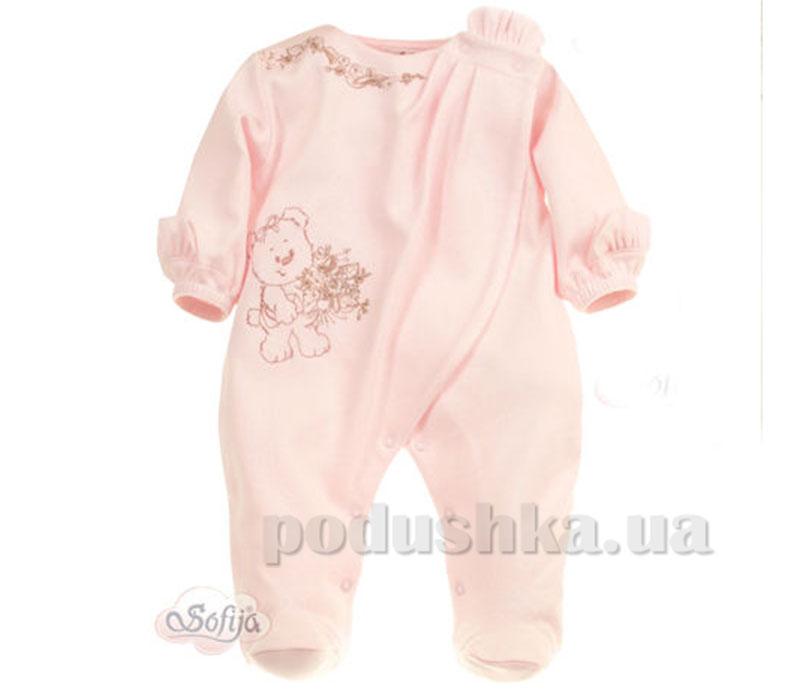 Человечек-комбинезон Добрусиа хлопок розовый Sofija 132с.4-56