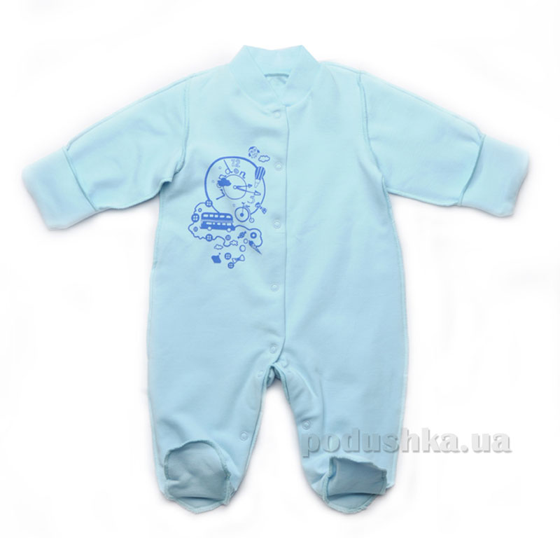 Комбинезон утепленный Модный карапуз 302-00013 голубой
