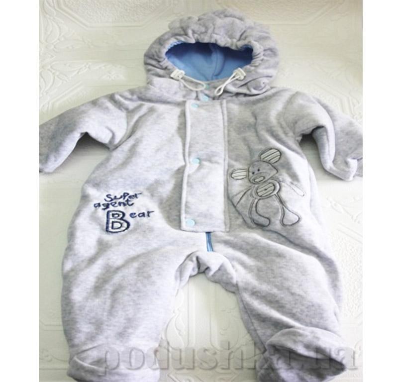 Комбинезон с капюшоном для малыша велюр Baby Life 611