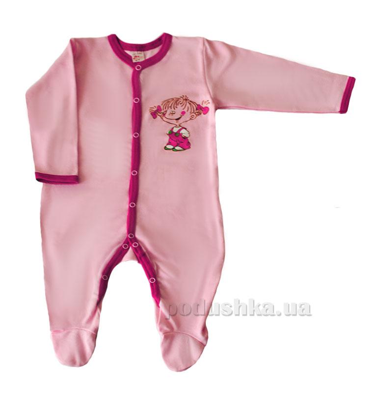 Человечек-комбинезон Татошка 15506 розовый с кантом