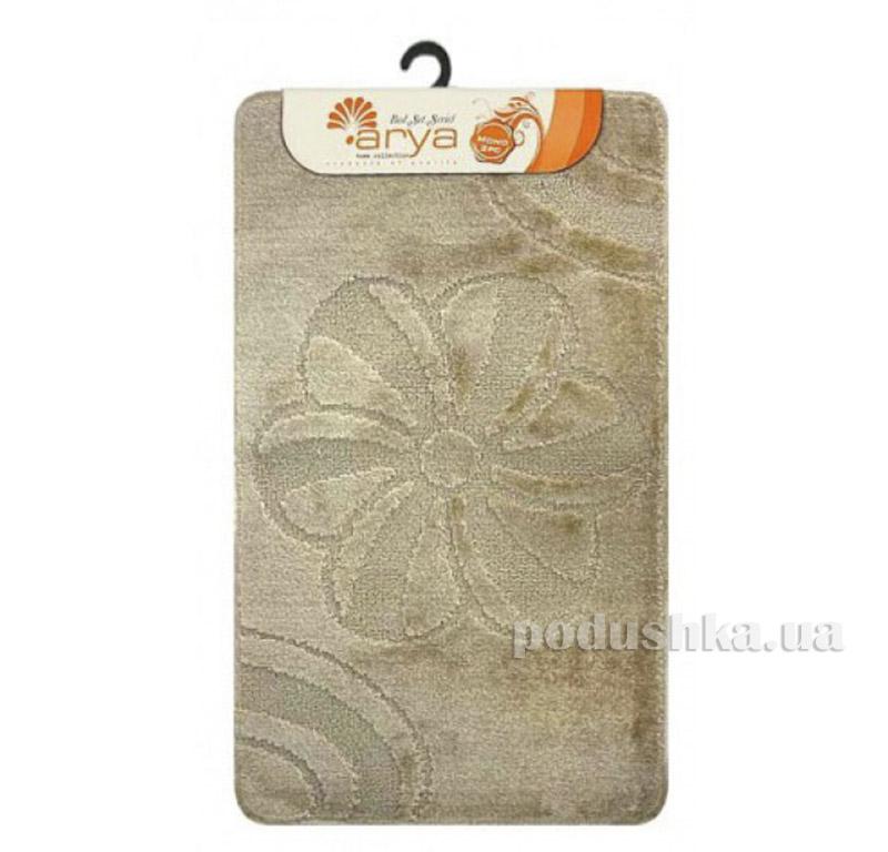 Комплект бежевых ковриков для ванной комнаты Mono Arya 1380077