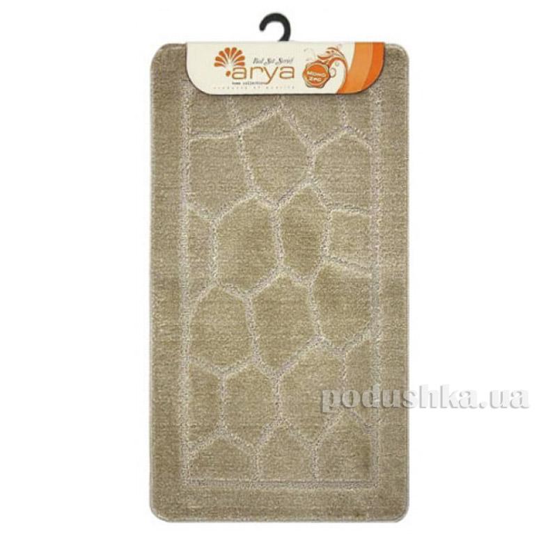 Комплект бежевых ковриков для ванной комнаты Mono Arya 1380079