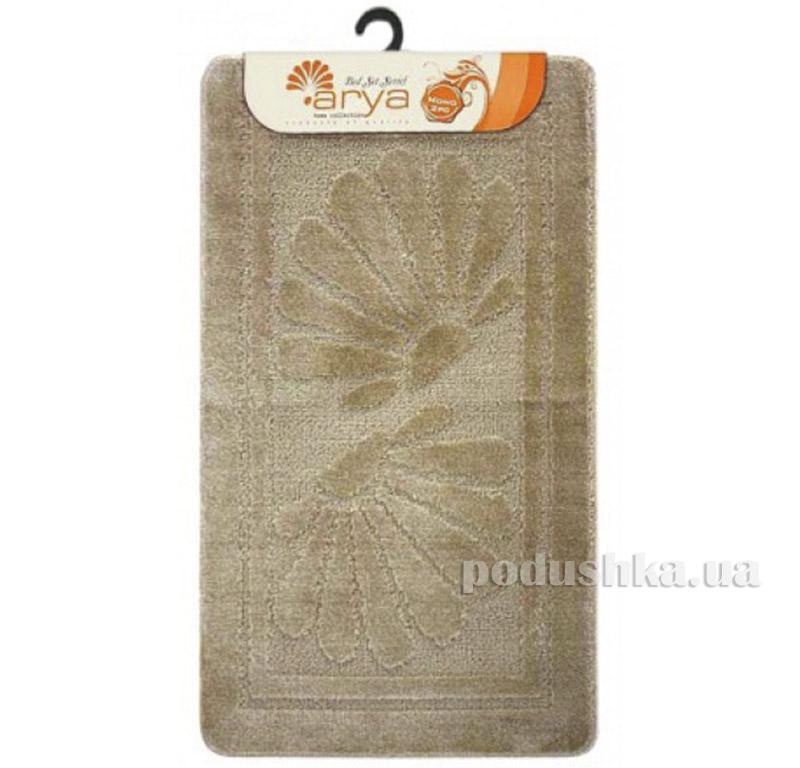 Комплект бежевых ковриков для ванной комнаты Mono Arya 1380080