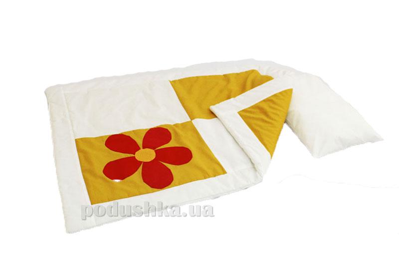 Комплект детский Аппликация одеяло и подушка Homefort