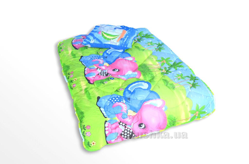 Комплект детский ТЕП Слоники 537 одеяло и подушка