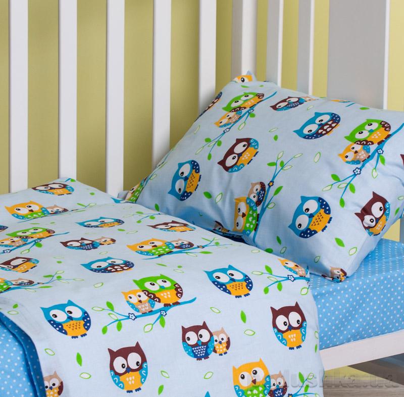 Комплект детского белья SoundSleep Fantastic owls Ran-102-blue-1