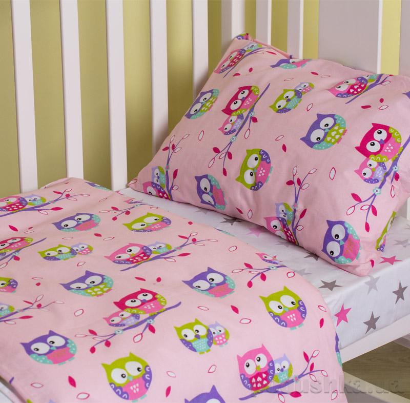 Комплект детского белья Fantastic owls SoundSleep Ran-102-pink-1