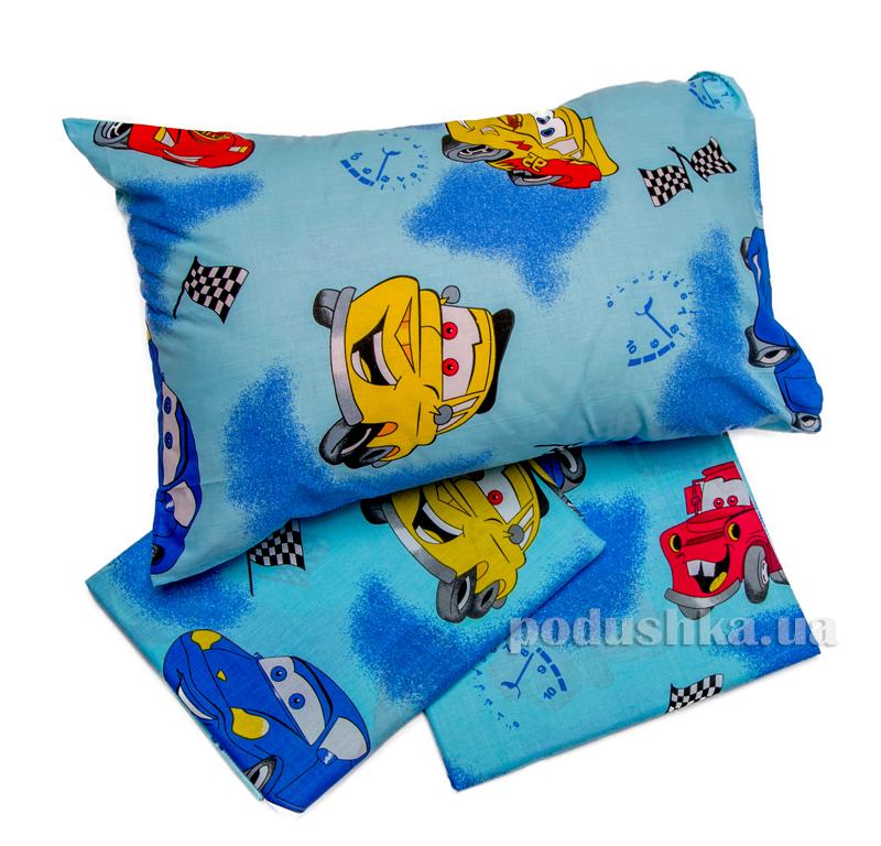 Комплект детского постельного белья Машинки Мiцний сон КПБ МАШИНКИ
