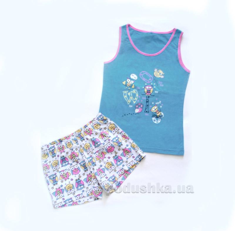 Комплект для девочки МТФ 4491 П бирюзовый