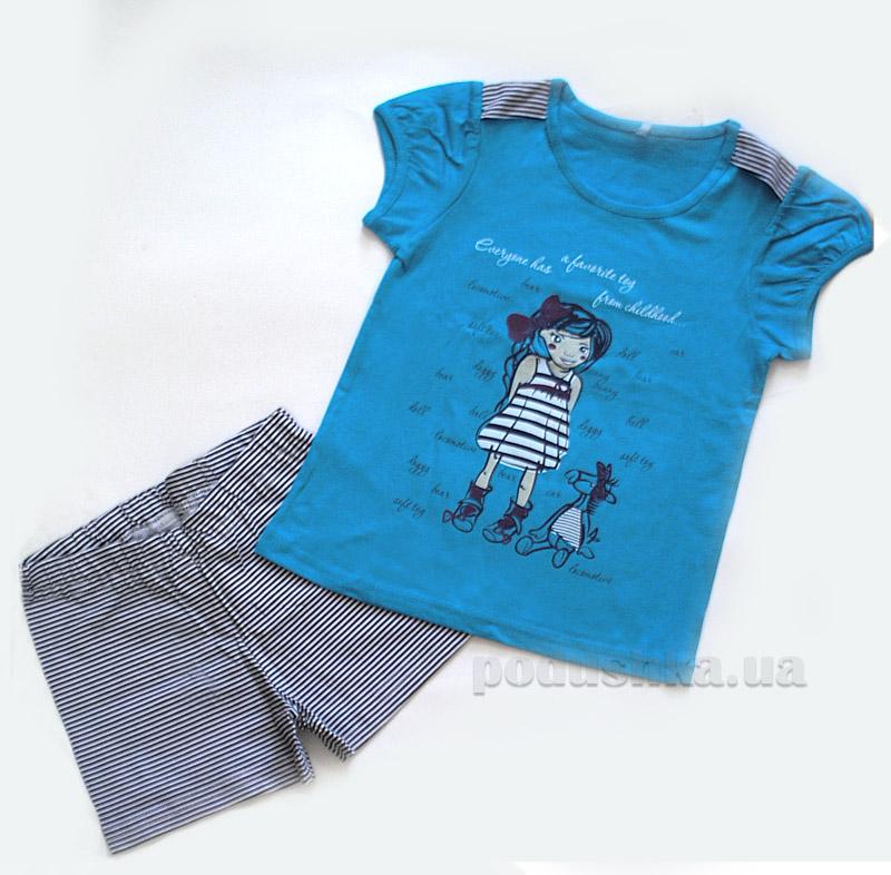 Комплект для девочки МТФ 5559 П бирюзовый