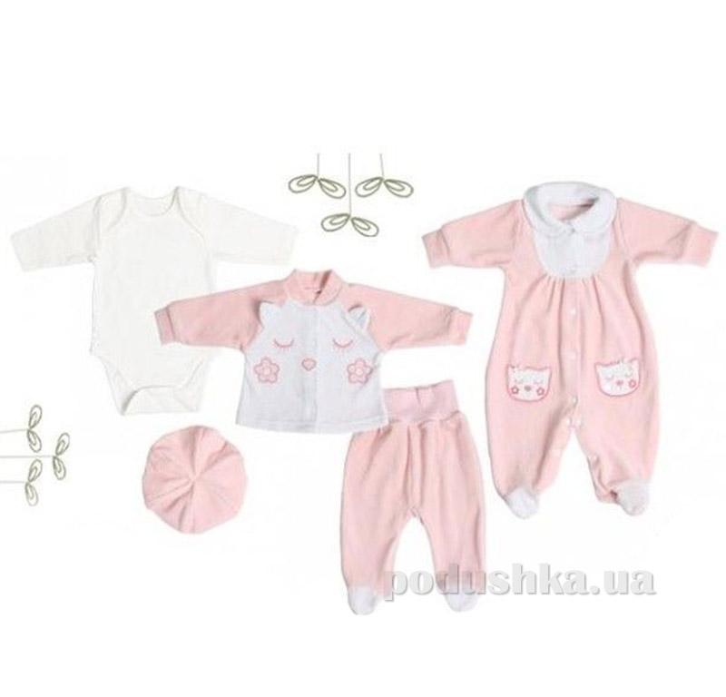 Комплект для новорожденной девочки Bembi КП93 велюр