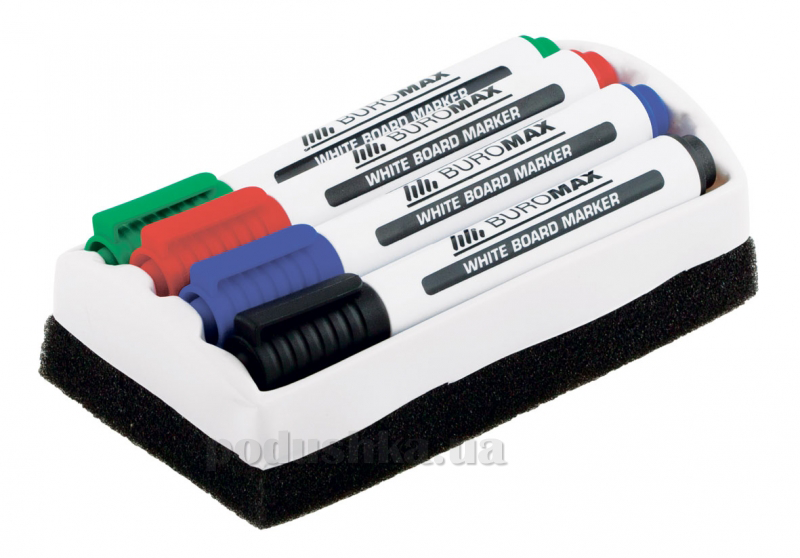 Комплект из 4 маркеров и губки для магнитных досок Buromax BM.8800