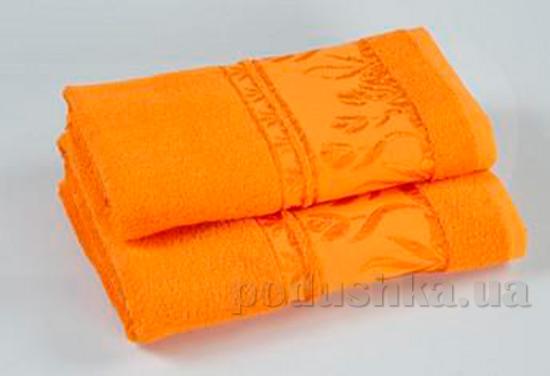 Комплект из трех махровых полотенец Португалия Tulips оранжевых