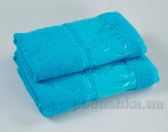 Комплект из трех махровых полотенец Португалия Tulips ярко-голубых