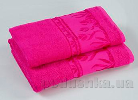 Комплект из трех махровых полотенец Португалия Tulips ярко-розовых