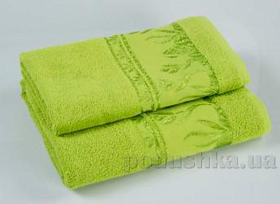 Комплект из трех махровых полотенец Португалия Tulips зеленых