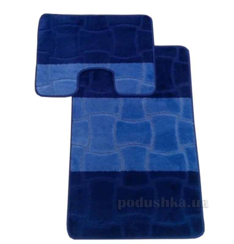 Комплект ковриков в ванную Multi Г-3-kovrotex синий