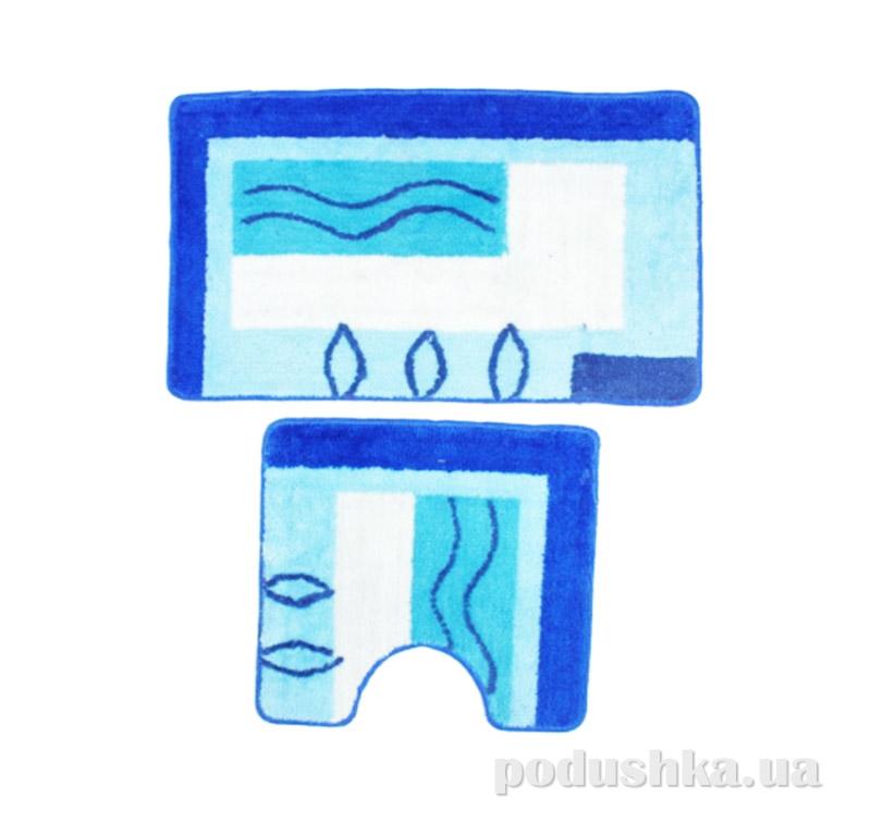 Комплект ковриков в ванную на резиновой основе A-8-kovrotex