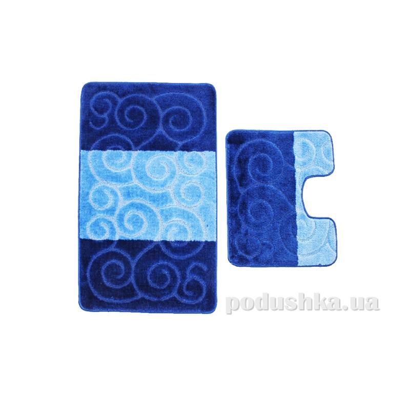 Комплект ковриков в ванную на резиновой основе г-13-kovrotex
