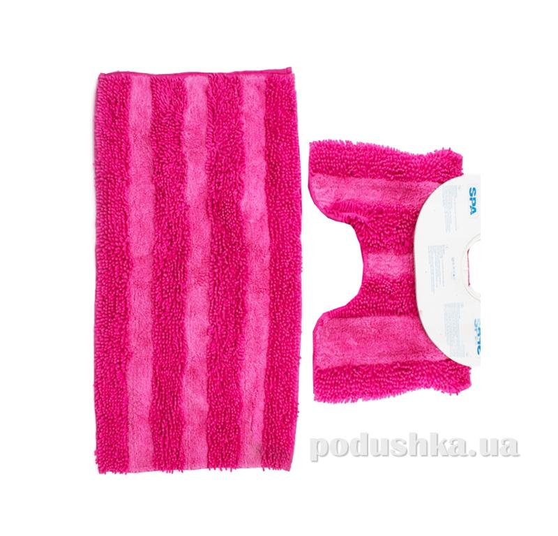 Комплект ковриков в ванную на резиновой основе Кovrotex Макарон