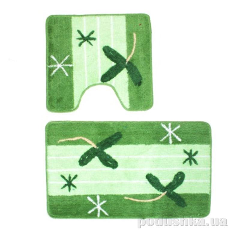 Комплект ковриков в ванную на резиновой основе A-1-kovrotex