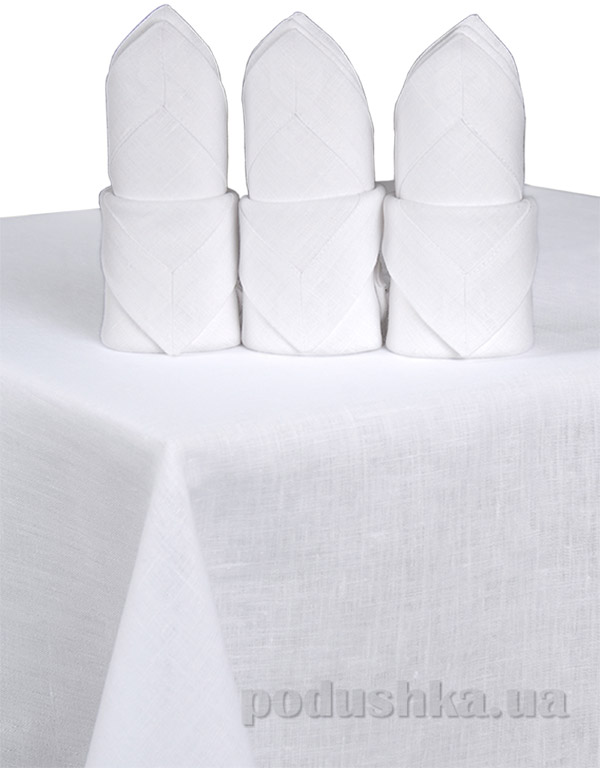 Комплект льняных салфеток Гармония белый