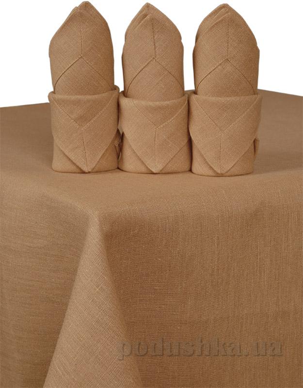 Комплект льняных салфеток Гармония орех
