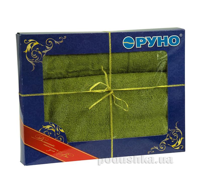 Комплект махровых полотенец Руно оливка