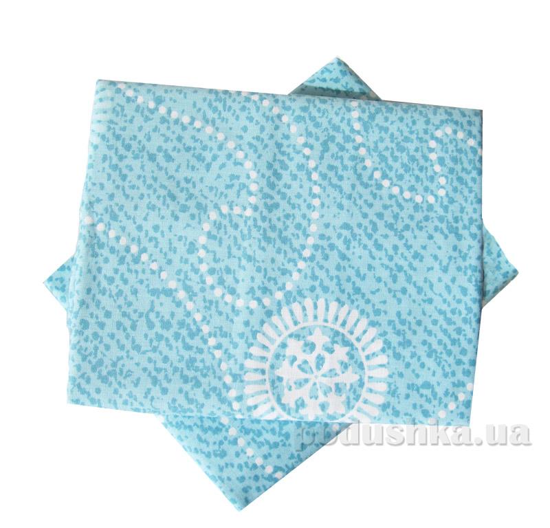 Комплект наволочек Вилюта 9844 голубые с узором