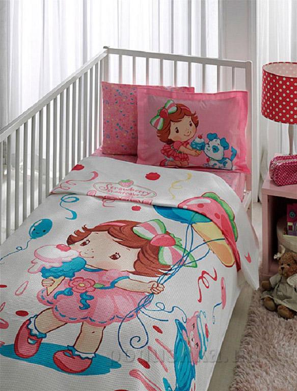 Комплект пике в кроватку TAC Strawberry SHORTCAKE BABY CUP