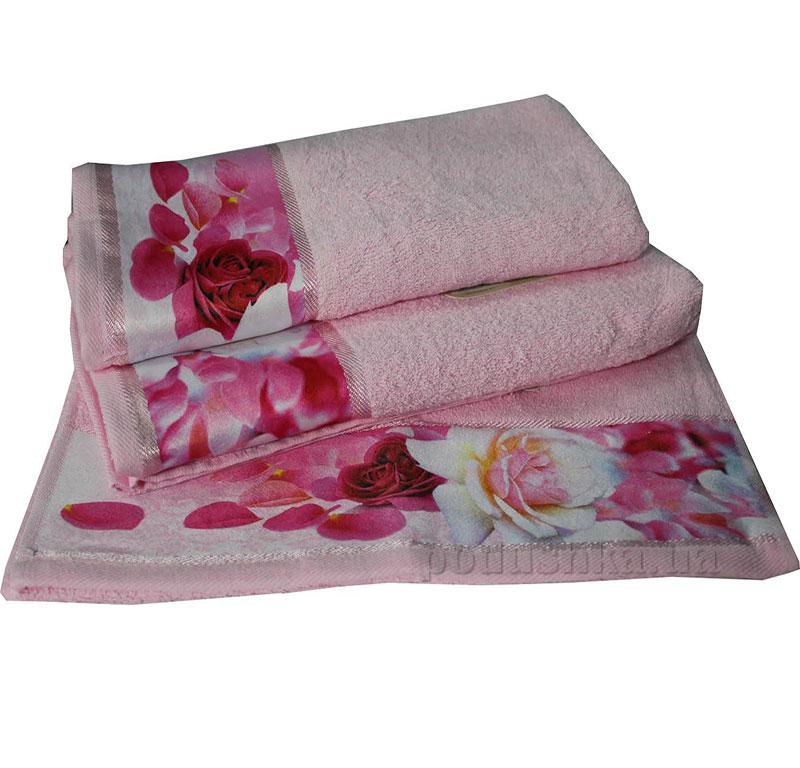 Комплект полотенец Романтика Нежность розовый