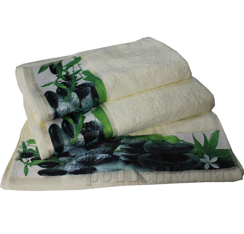 Комплект полотенец Романтика Relax молочный
