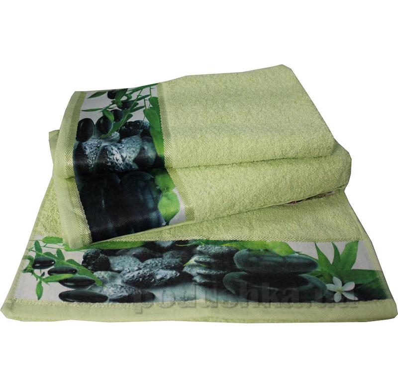 Комплект полотенец Романтика Relax зеленый