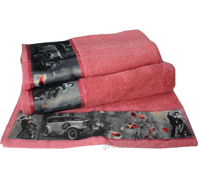 Комплект полотенец Романтика Retro коралловый