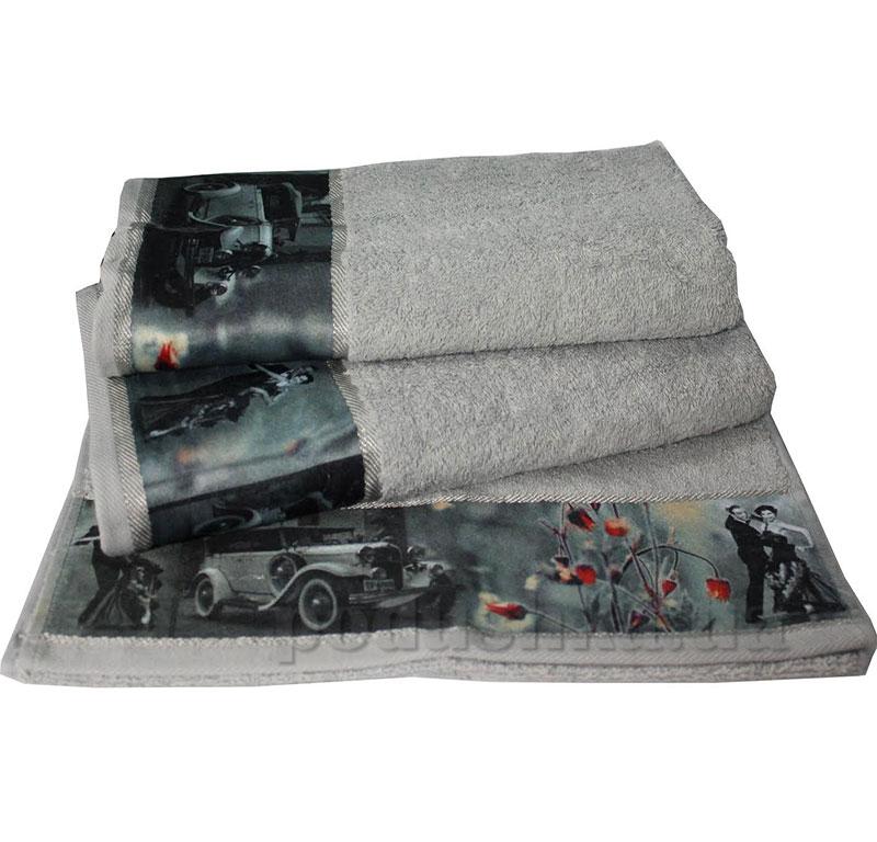 Комплект полотенец Романтика Retro серебро