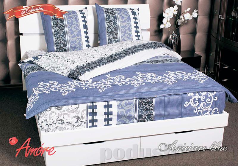 Комплект постельного белья Amore Ariciare blue бязь голд