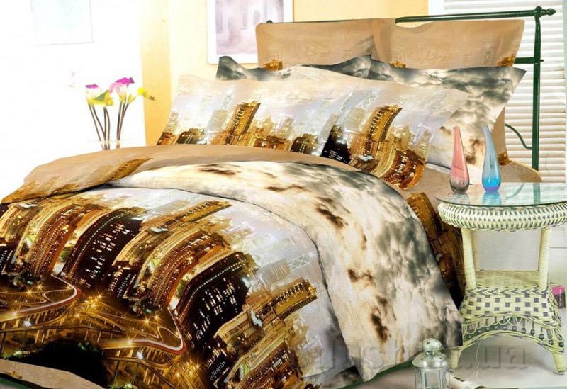 Комплект постельного белья Amore Citta di notte ранфорс
