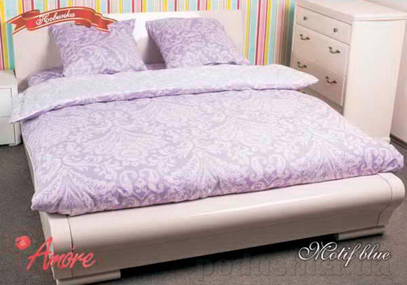 Комплект постельного белья Amore Motif blu Поплин
