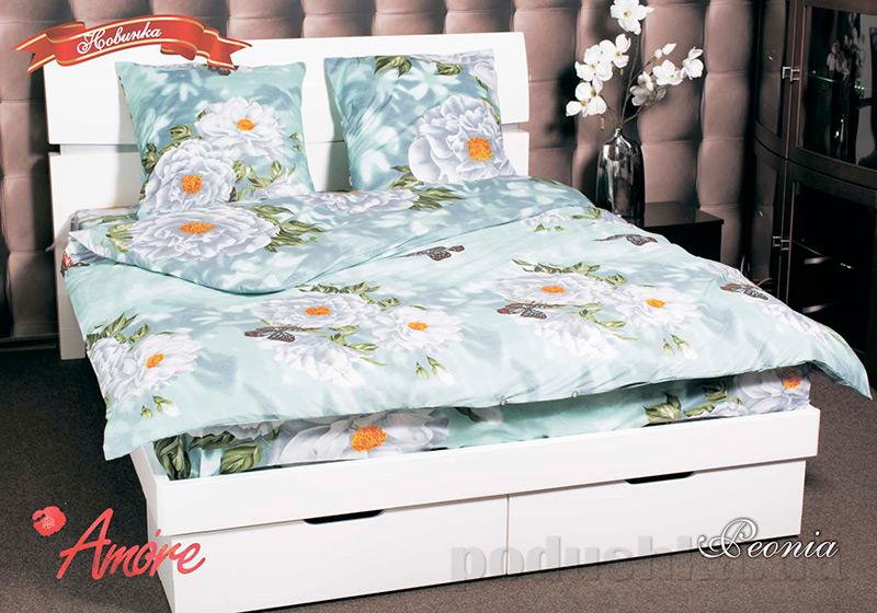 Комплект постельного белья Amore Peonia бязь голд