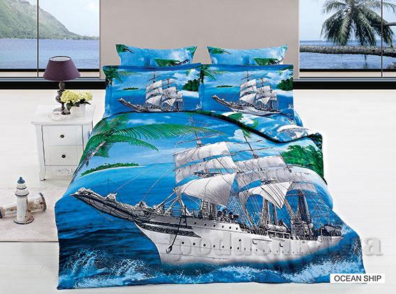 Постельное белье Arya 3D Ocean ship